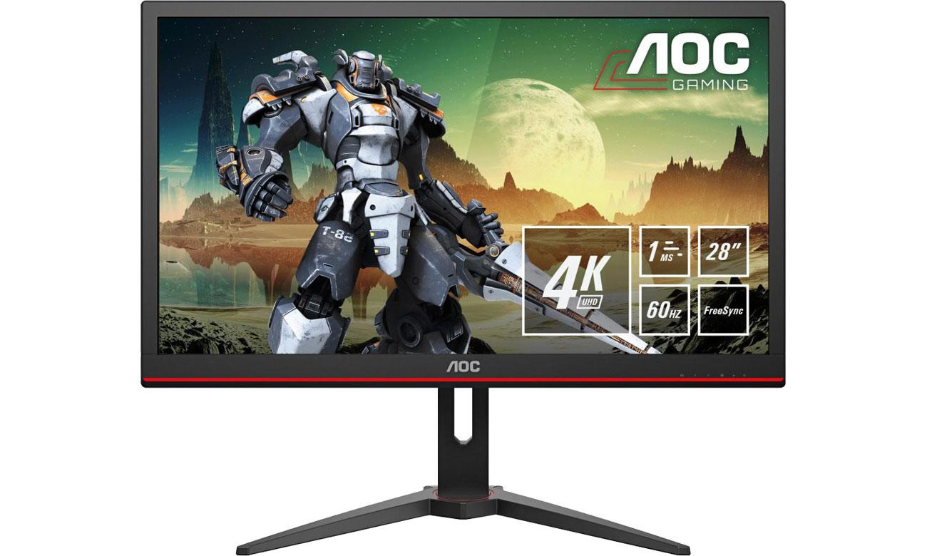 Monitor LED AOC G2868PQU 4K HDR