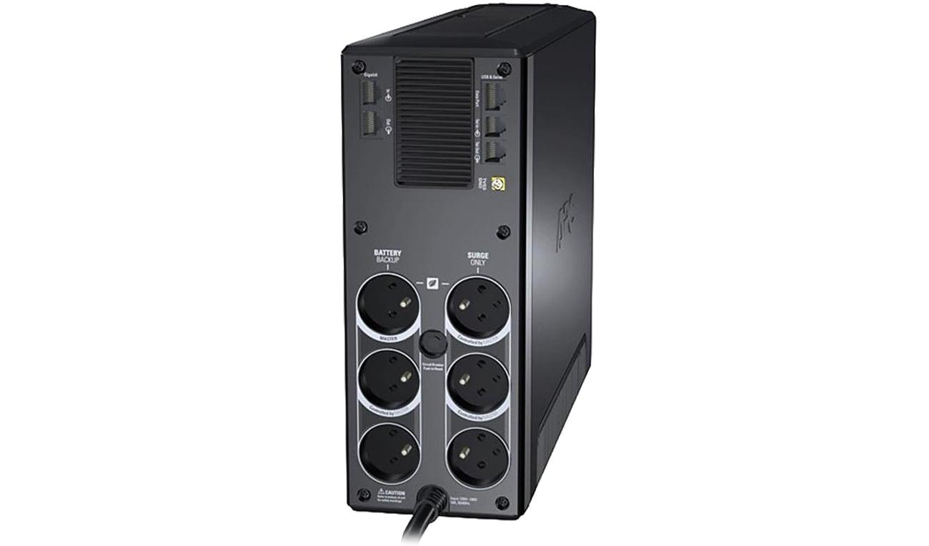 APC Back-UPS Pro 1200 widok z tyłu