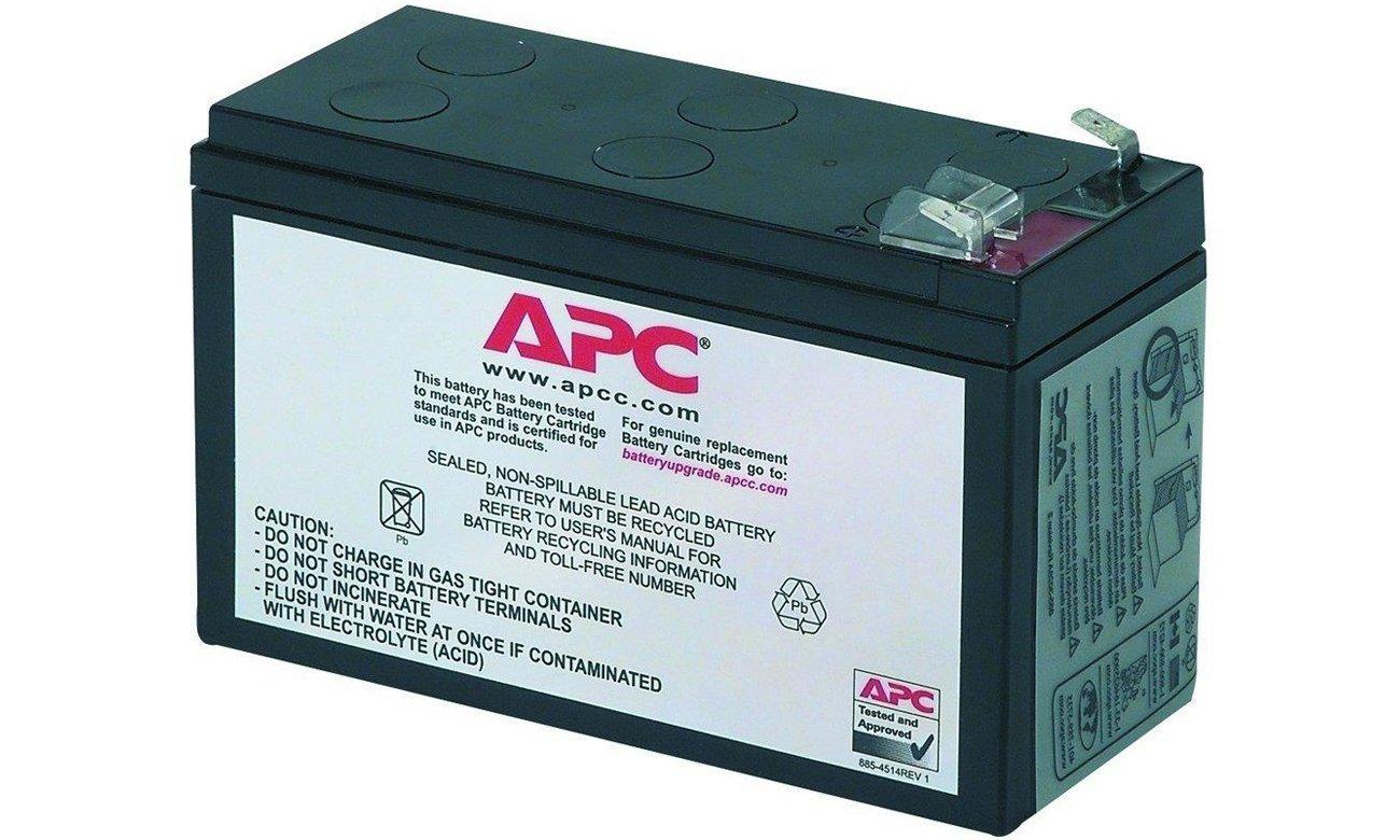 Zasilacz awaryjny UPS APC Zamienna kaseta akumulatora RBC17