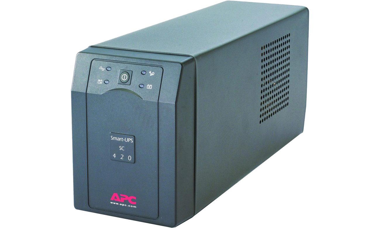 APC Smart-UPS SC 420VA 230V SC420I widok z przodu
