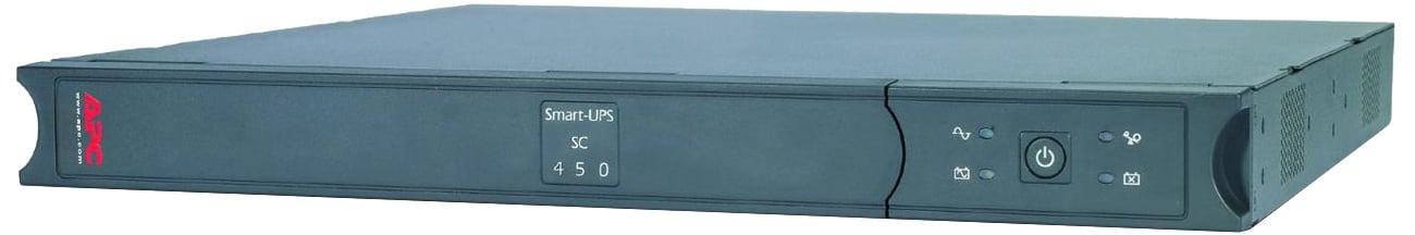 APC Smart-UPS SC 450VA SC450RMI1U widok z przodu