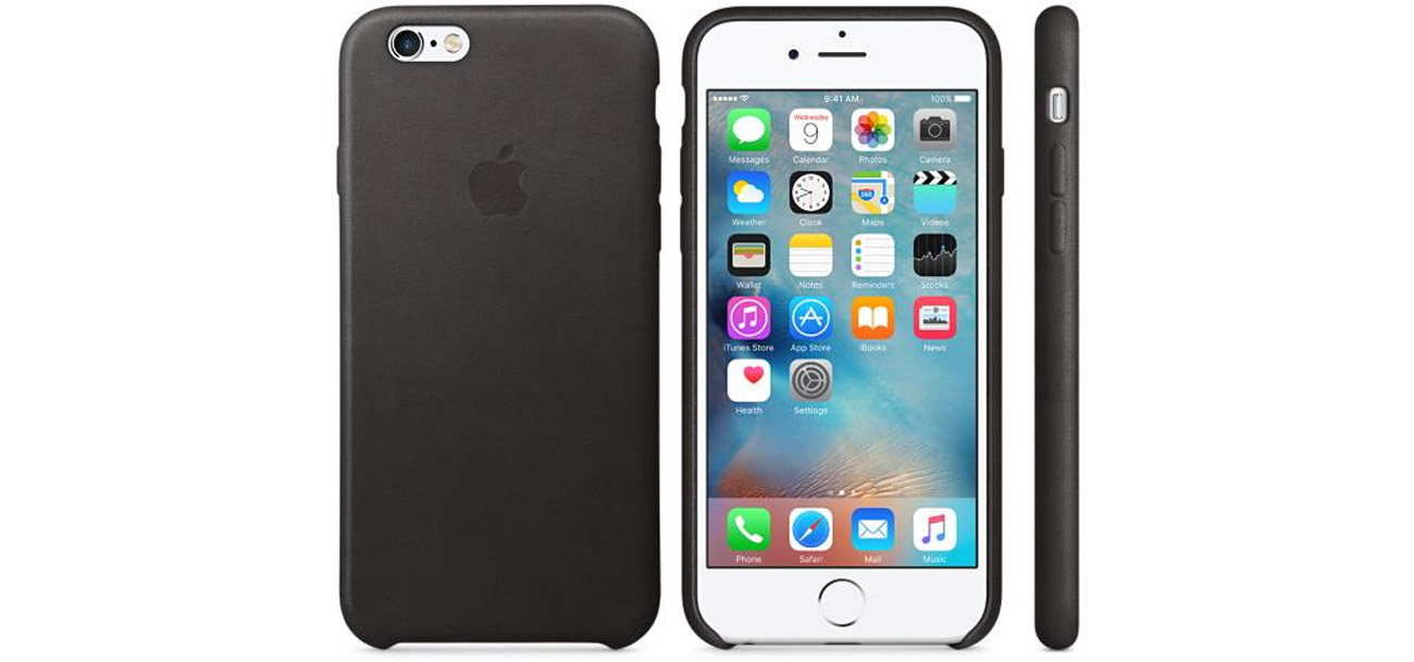 Apple iPhone 6s Leather Case czarny