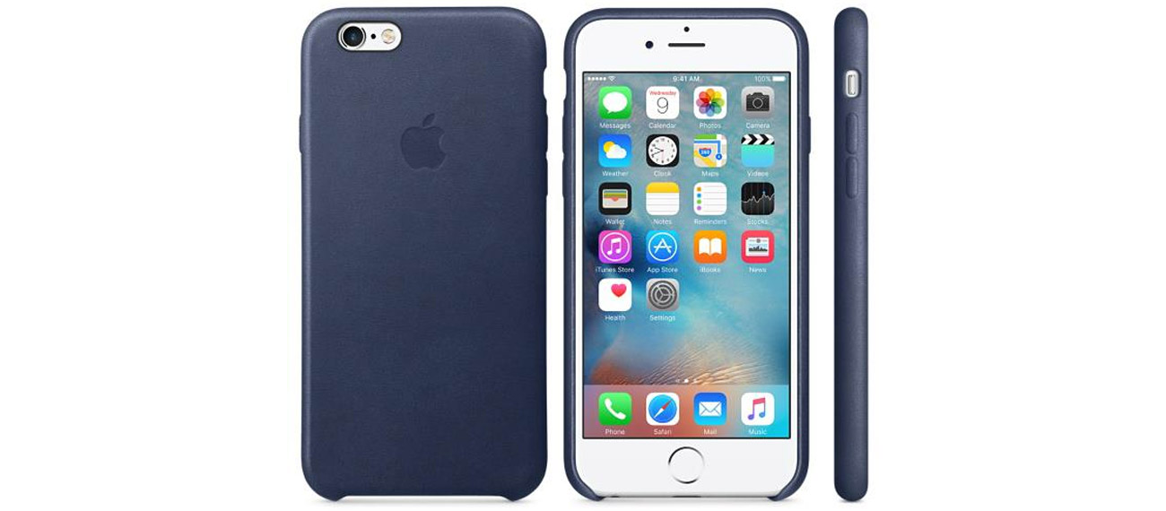 Apple iPhone 6s Leather Case niebieski