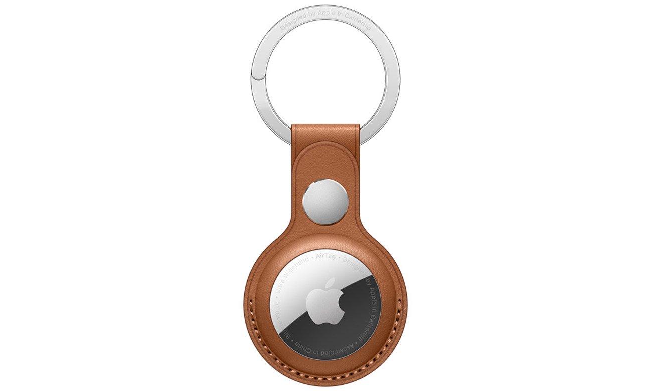 Skórzany brelok do lokalizatora Apple AirTag Naturalny brąz