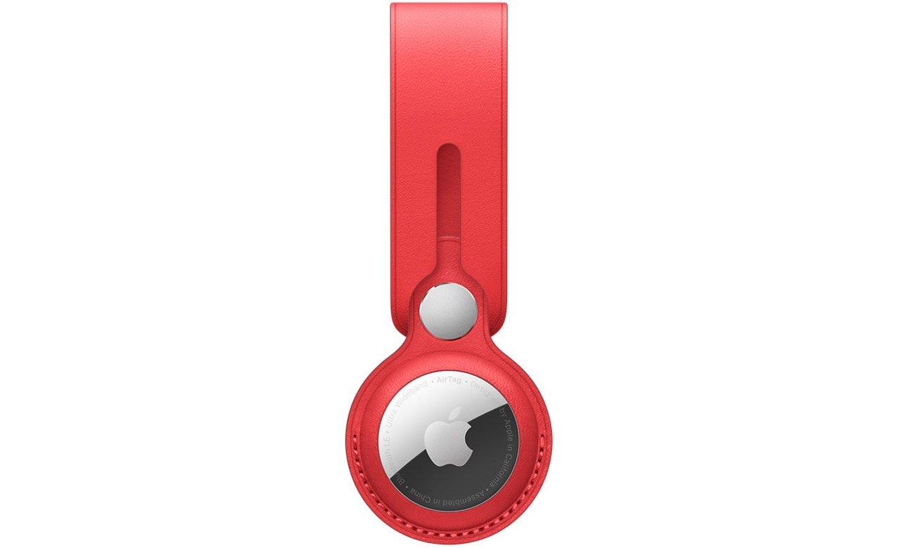 Pasek skórzany do lokalizatora Apple AirTag (PRODUCT)RED