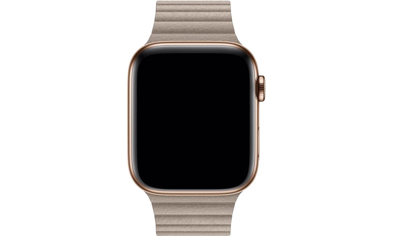 Apple Opaska skórzana piaskowa koperty 44 mm L
