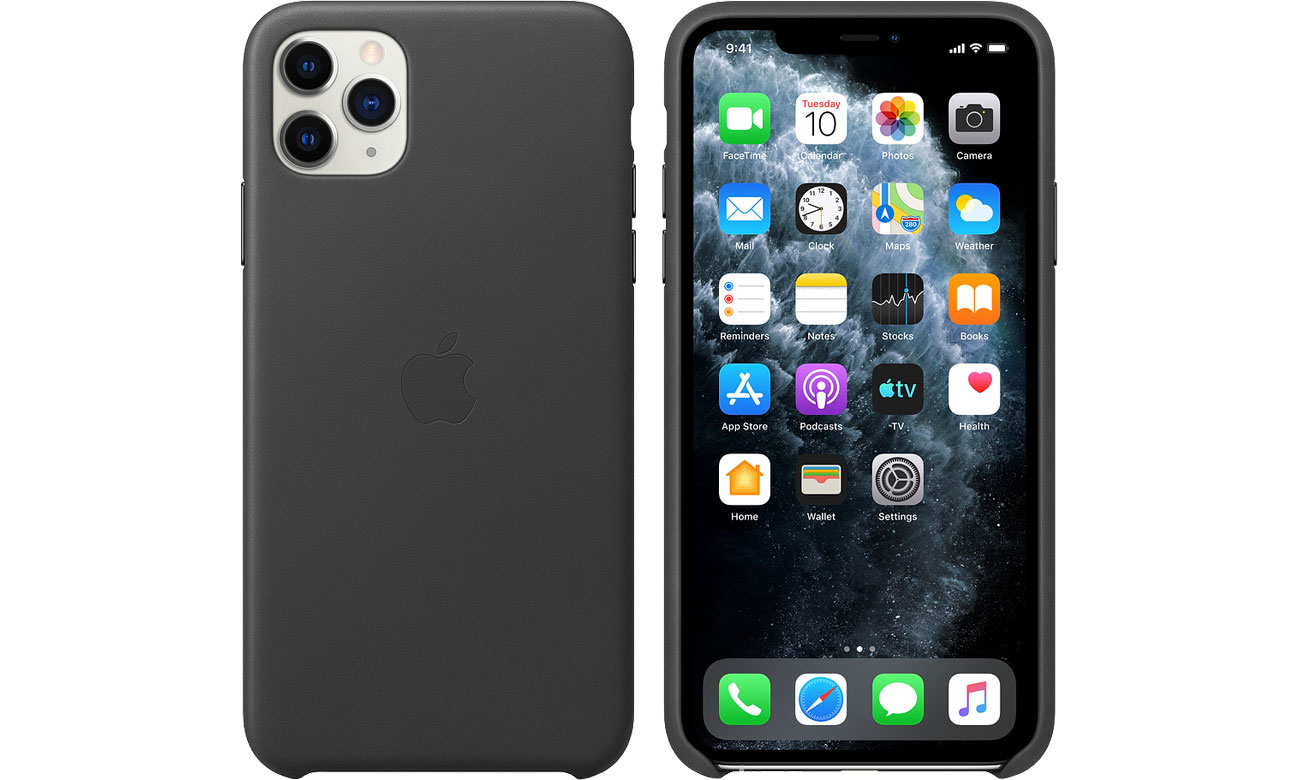 Apple Leather Case do iPhone 11 Pro Max Black
