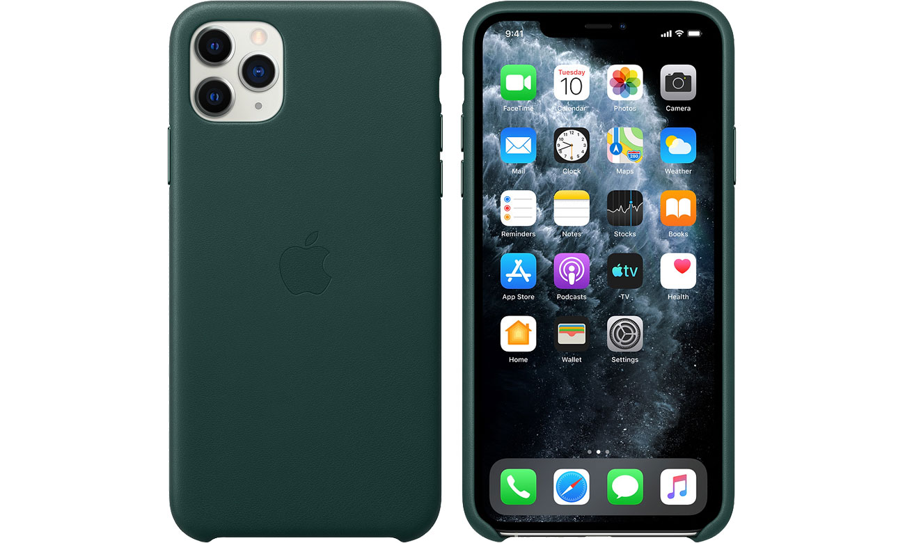 Apple Leather Case do iPhone 11 Pro Max Forest Green