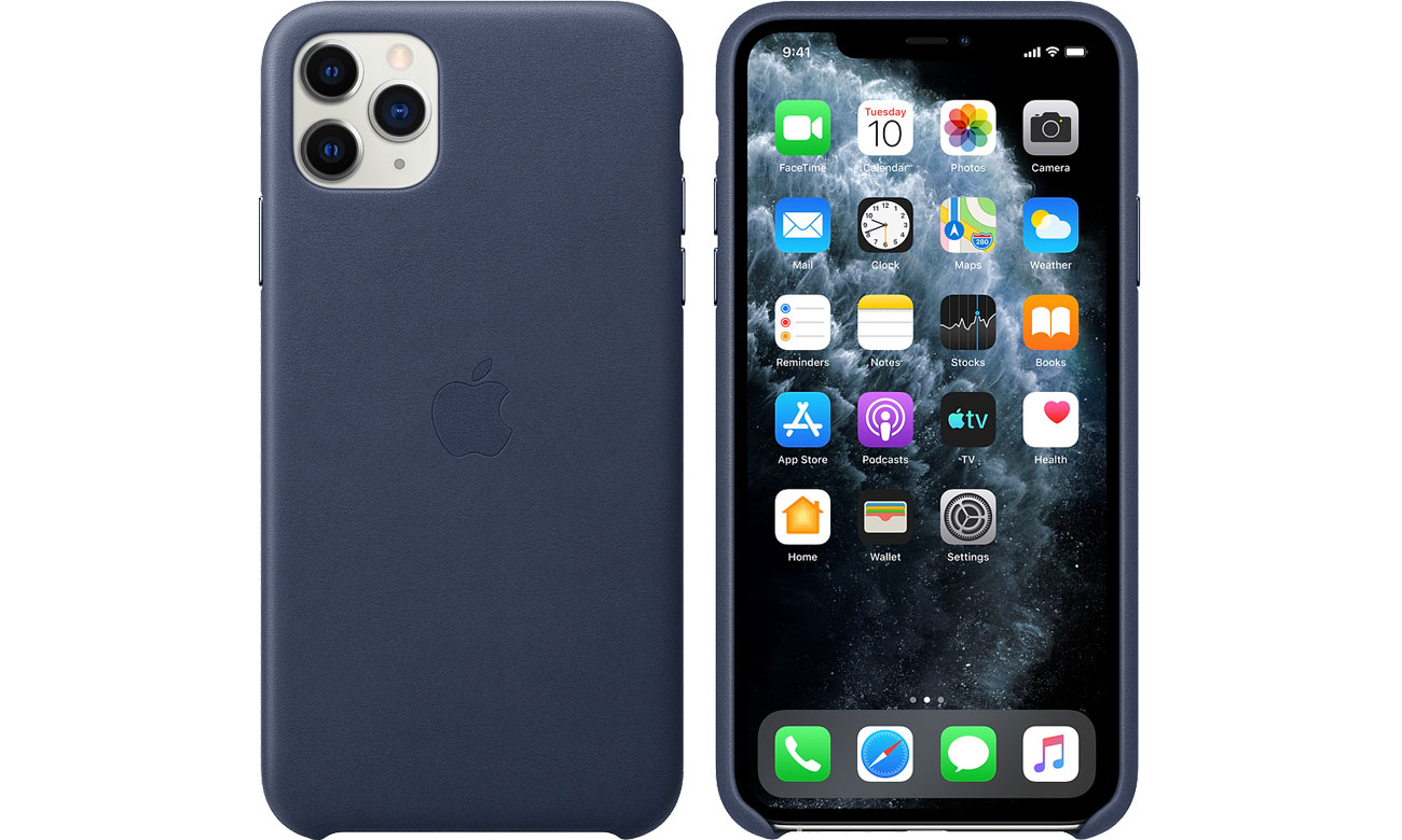 Apple Leather Case do iPhone 11 Pro Max Midnight Blue MX0G2ZM/A