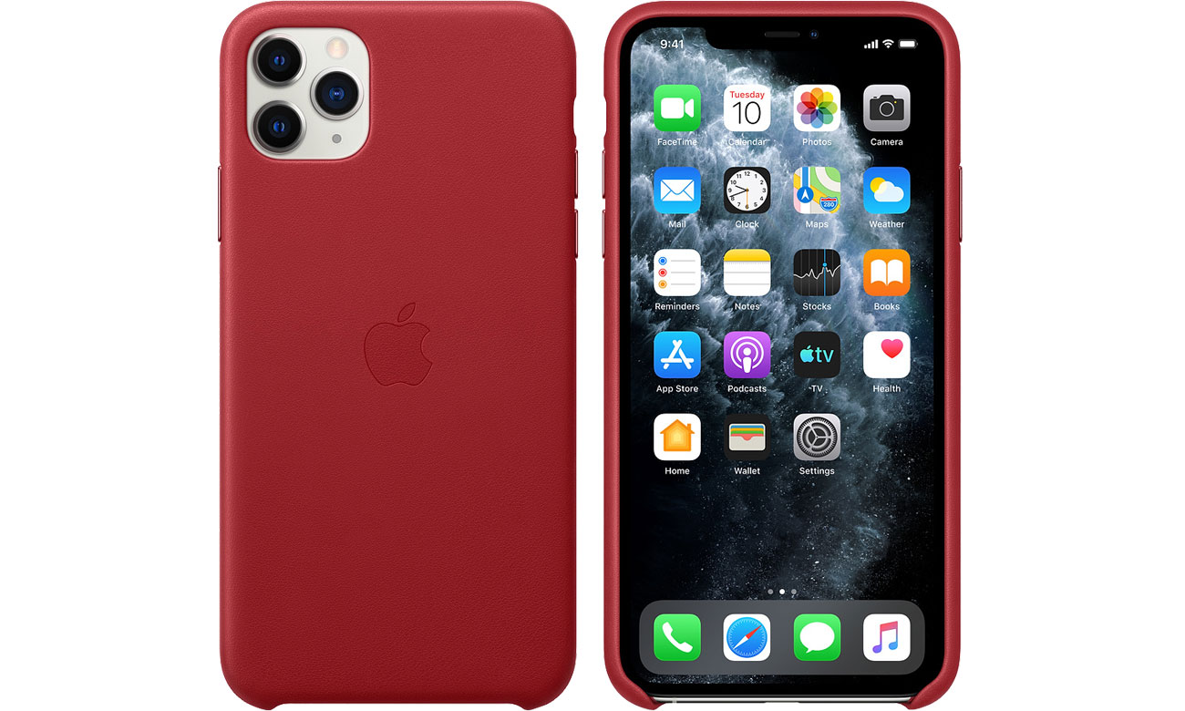 Apple Leather Case do iPhone 11 Pro Max (PRODUCT)RED MX0F2ZM/A