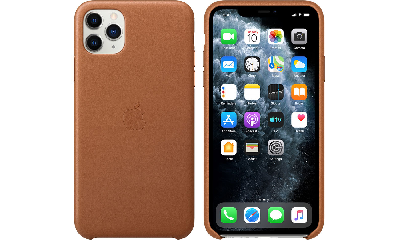 Apple Leather Case do iPhone 11 Pro Max Saddle Brown MX0D2ZM/A