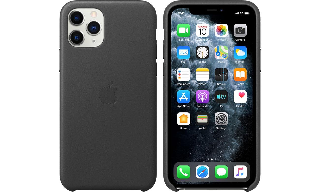 Apple Leather Case do iPhone 11 Pro Black MWYE2ZM/A