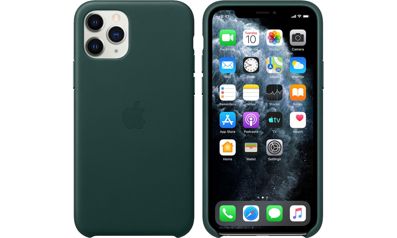Apple Leather Case do iPhone 11 Pro Black MWYE2ZM/A