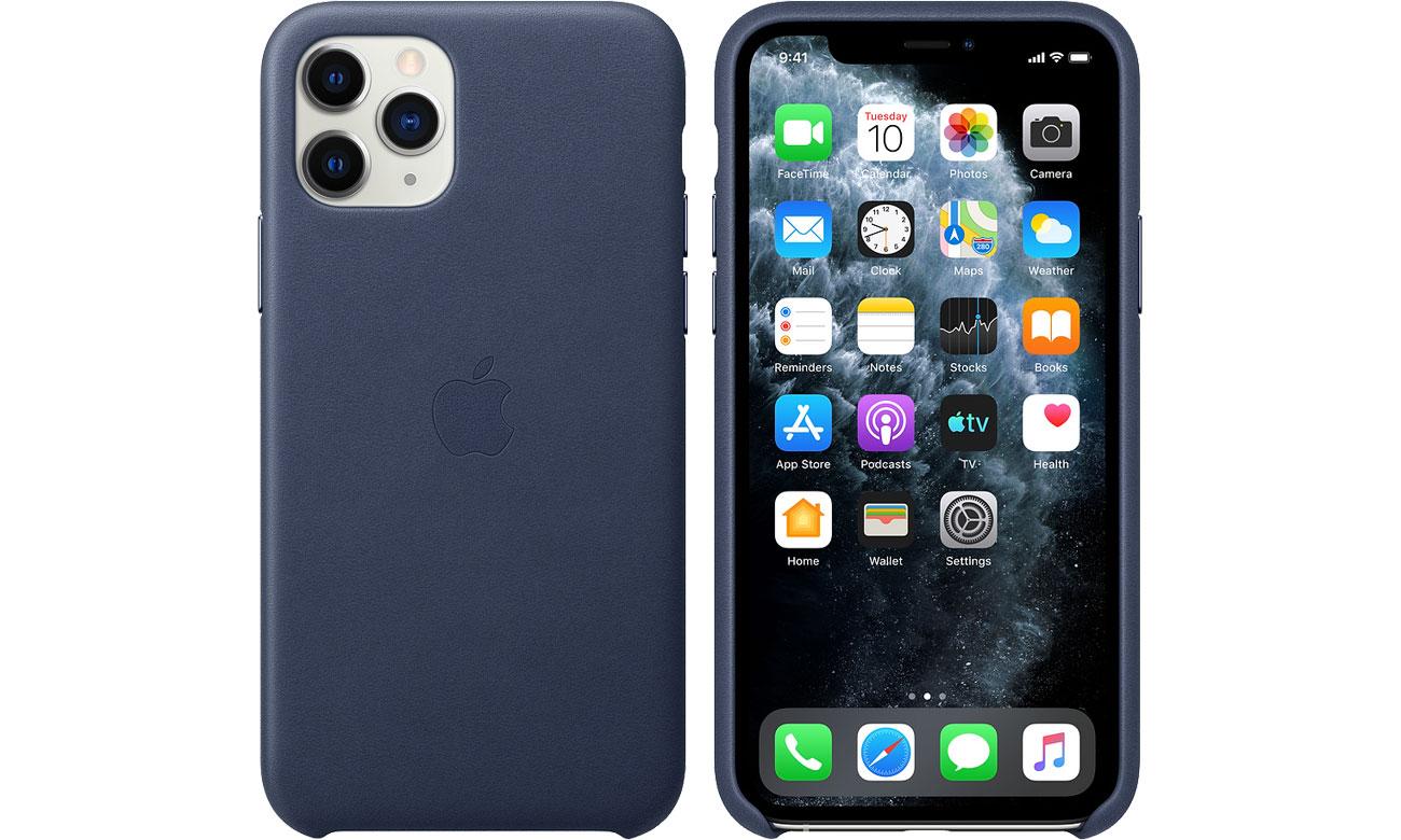 Apple Leather Case do iPhone 11 Pro Midnight Blue MWYG2ZM/A