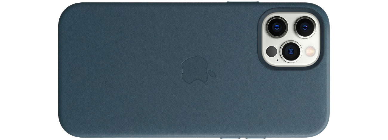 Apple Skórzane etui iPhone 12|12Pro bałtycki błękit MHKE3ZM/A