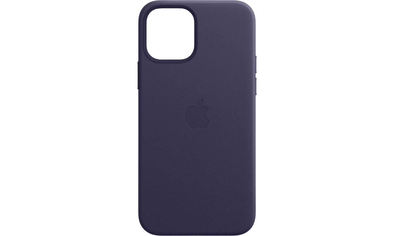 Apple Skórzane etui iPhone 12 12Pro ciemny fiolet MJYR3ZM/A
