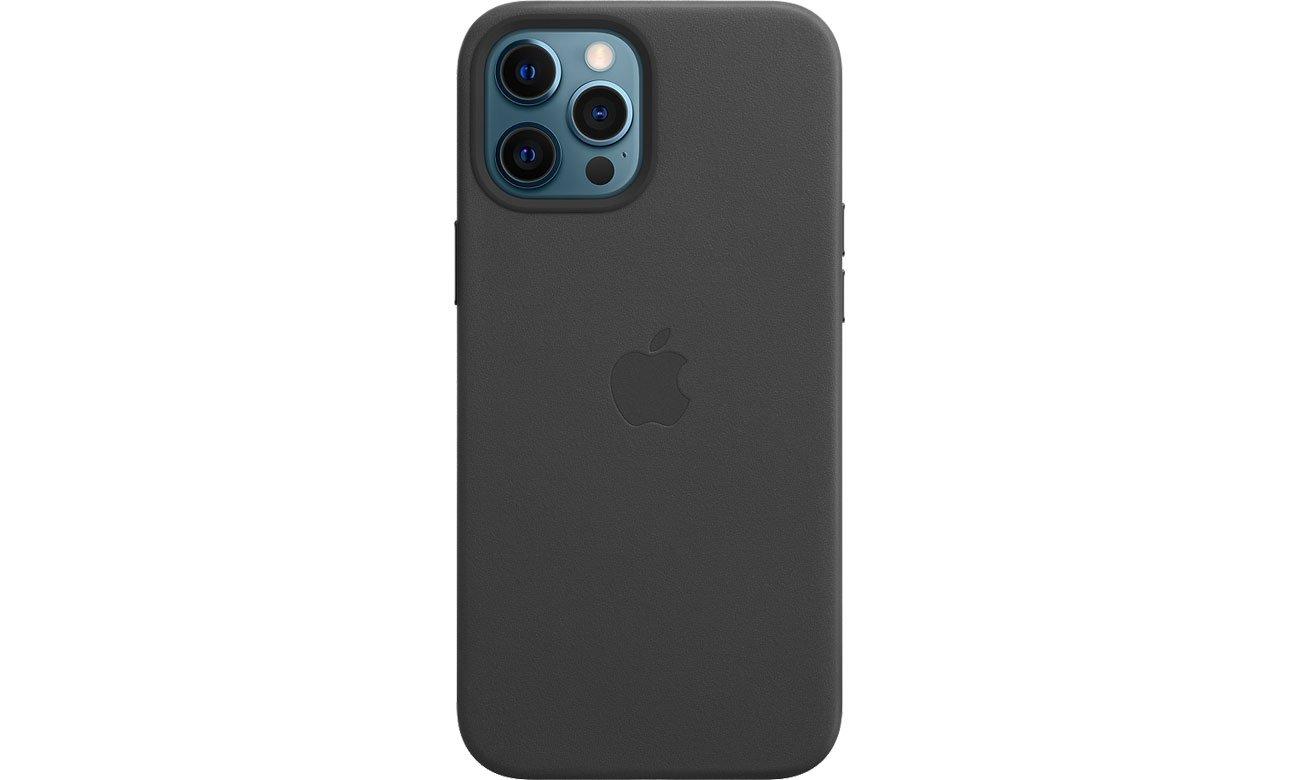 Apple Skórzane etui iPhone 12 Pro Max czarne MHKM3ZM/A