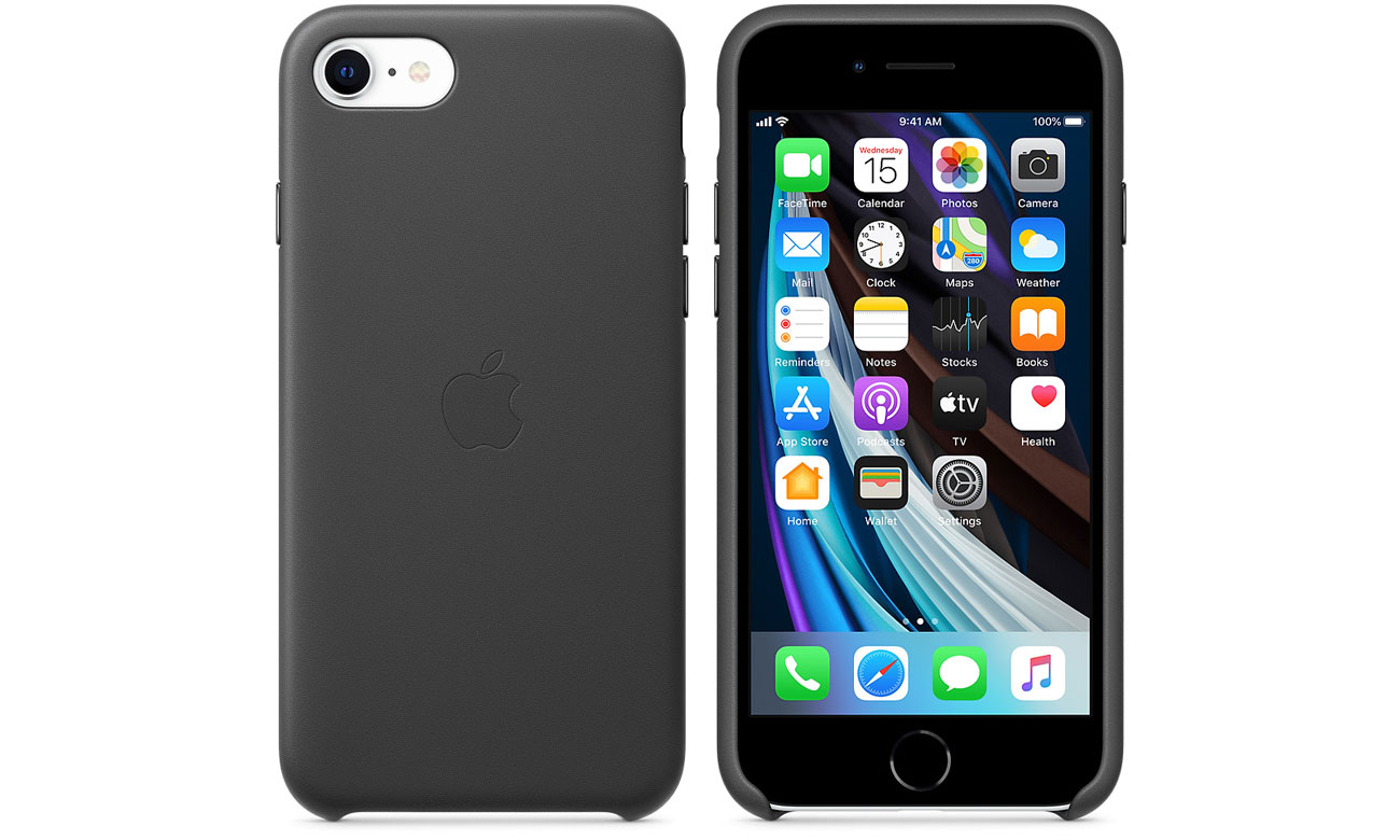 Etui Leather Case do iPhone 7/8/SE Czarne