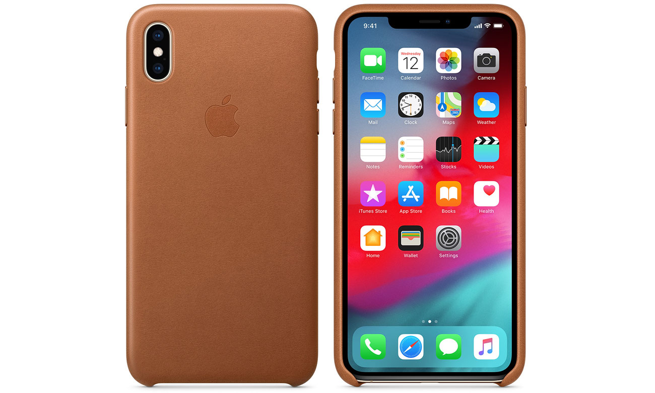 IPHONE XS MAX LEATHER CASE SADDLE BROWN