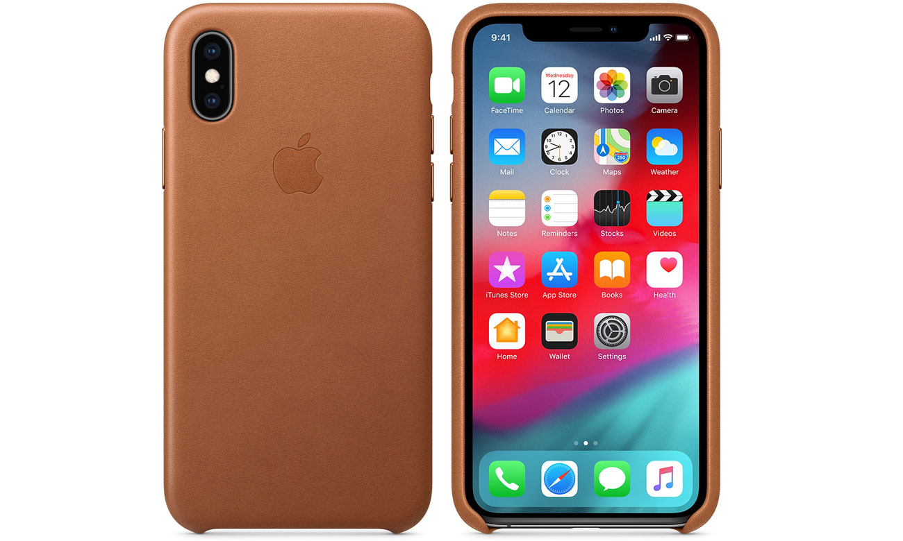 Etui Apple Leather Case Saddle Brown do iPhone XS
