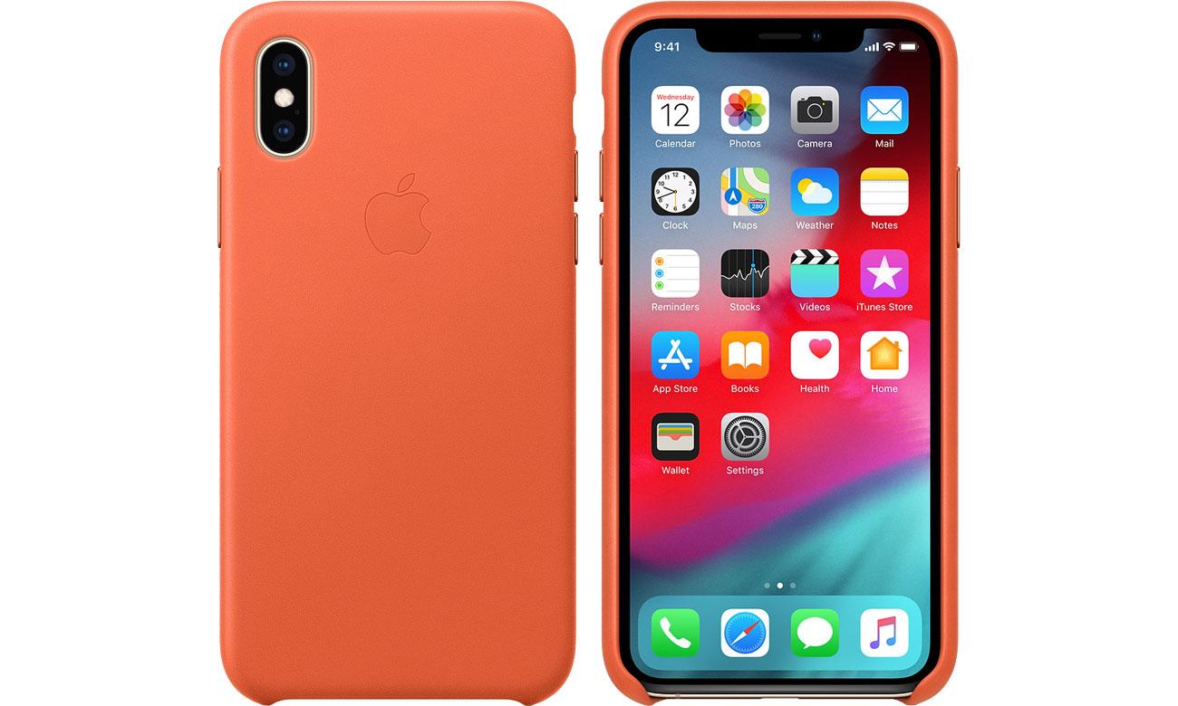 Etui Apple Leather Case Cornflower do iPhone XS