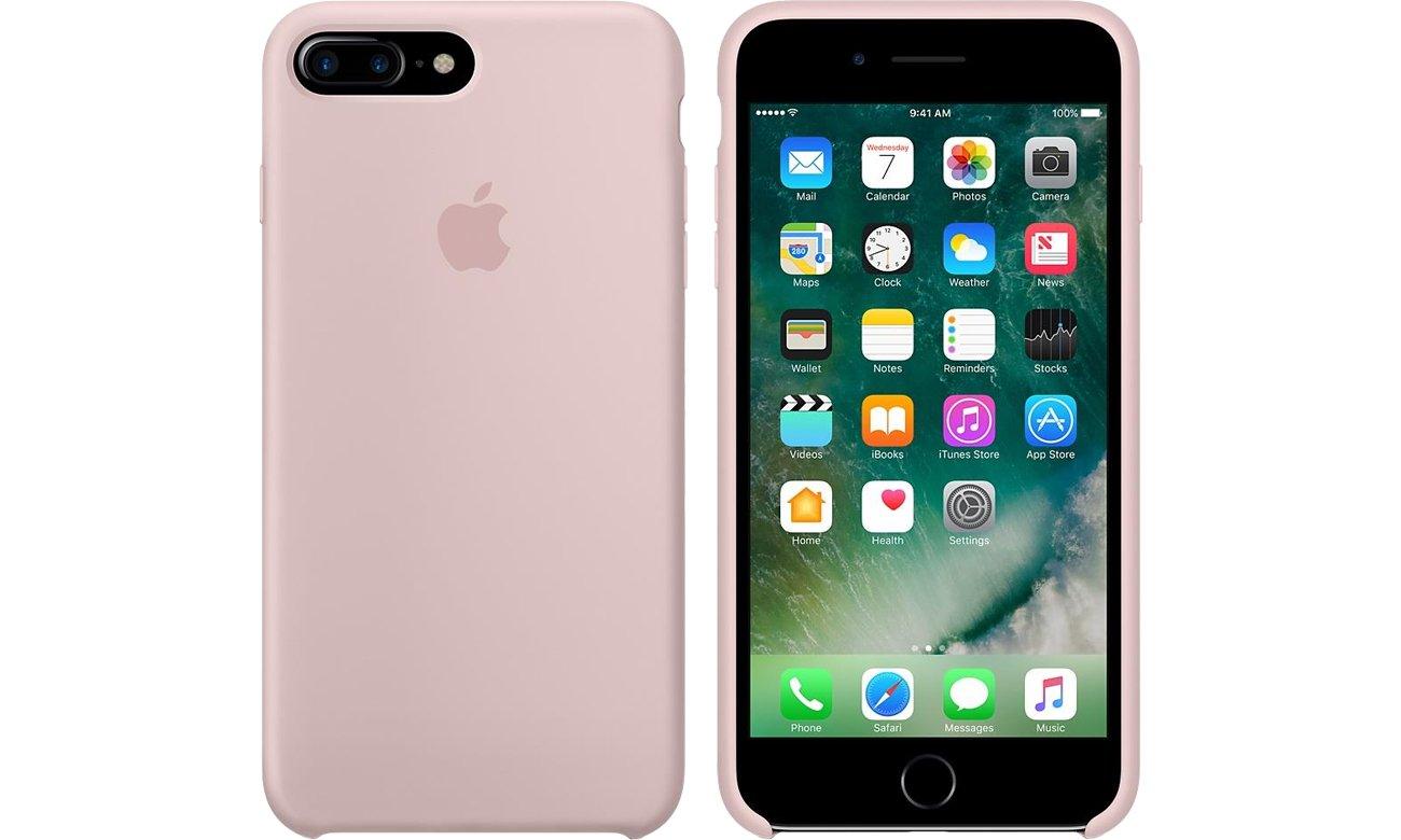 apple silicone case iphone 7 plus 8 plus pink sand etui i obudowy na smartfony sklep. Black Bedroom Furniture Sets. Home Design Ideas