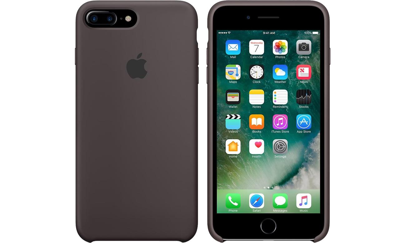 apple silicone case do iphone 7 plus 8 plus cocoa etui i. Black Bedroom Furniture Sets. Home Design Ideas