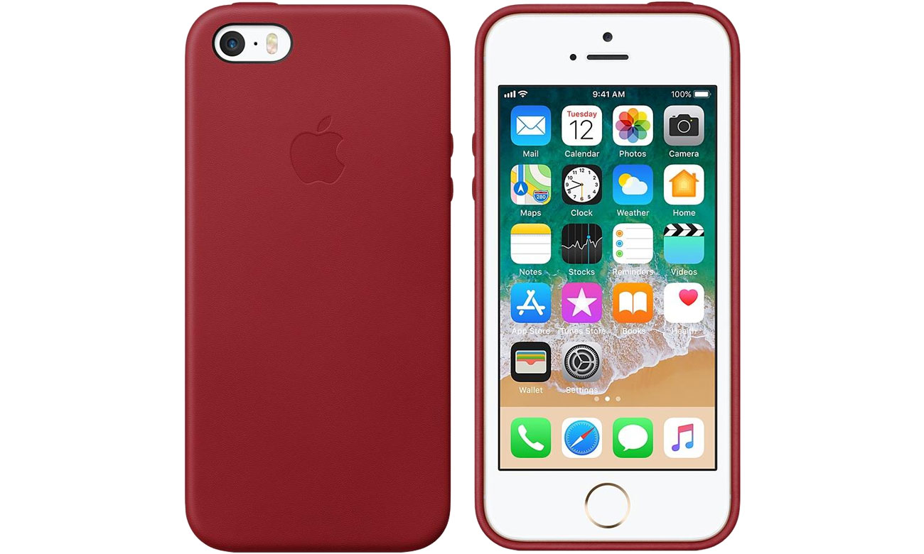 apple leather case do iphone se product red etui i obudowy na smartfony sklep internetowy. Black Bedroom Furniture Sets. Home Design Ideas