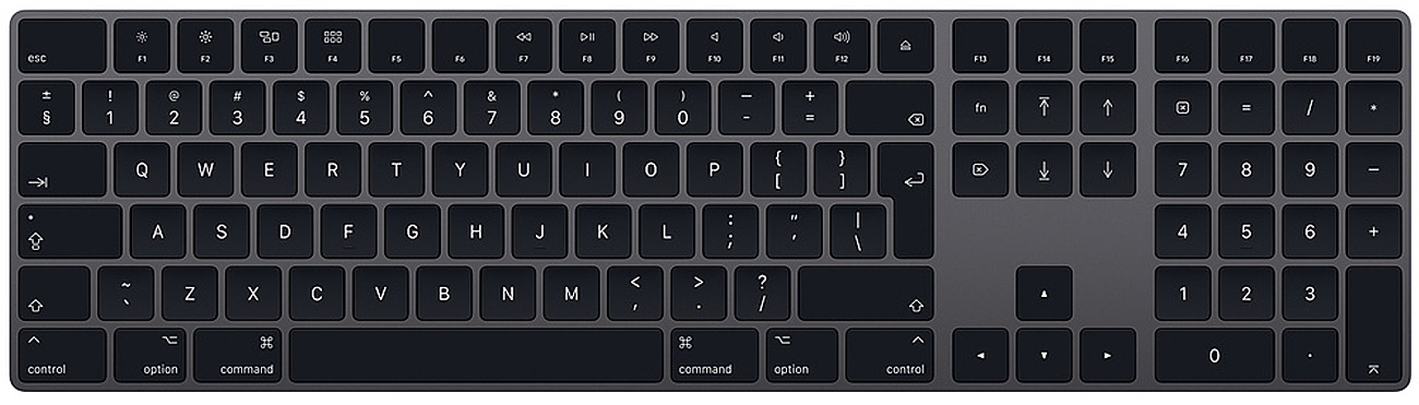 Apple Magic Keyboard z polem numerycznym szara