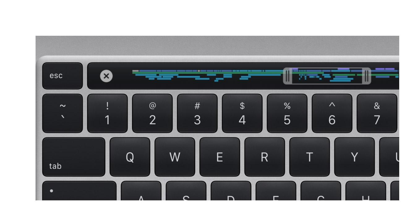 Ergonomiczna klawiatura, touch id, touch bar