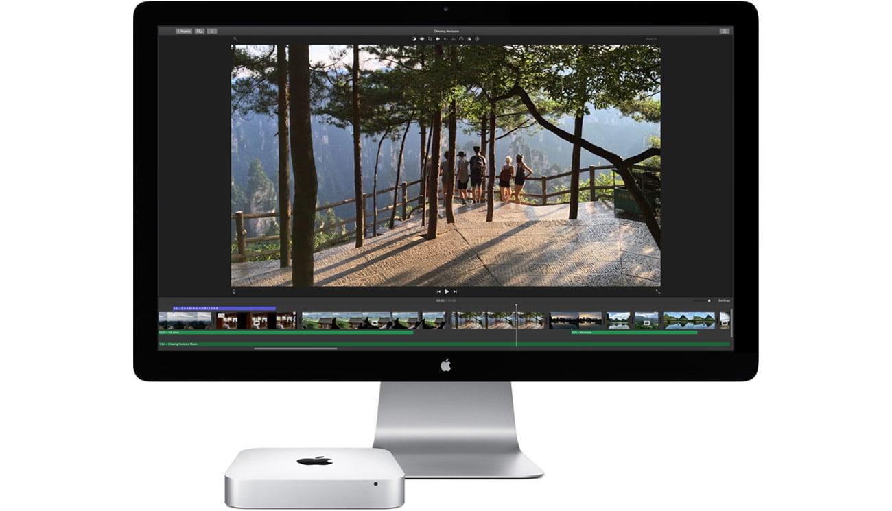 Podłącz dwa monitory Mac mini