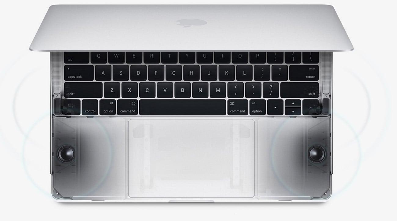 Apple MacBook Pro głosniki stereo wysokiej jakośći