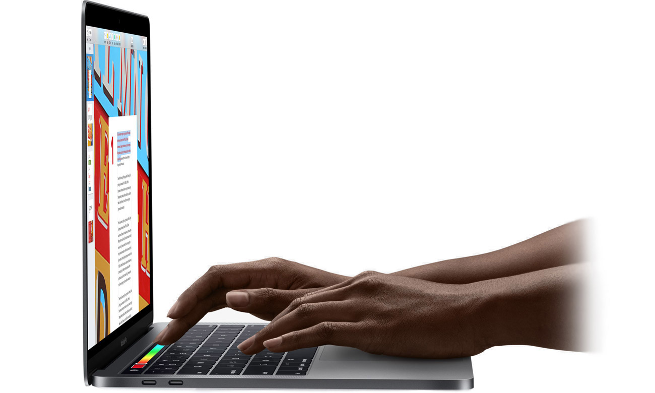 Apple MacBook Pro wygodna klawaitura