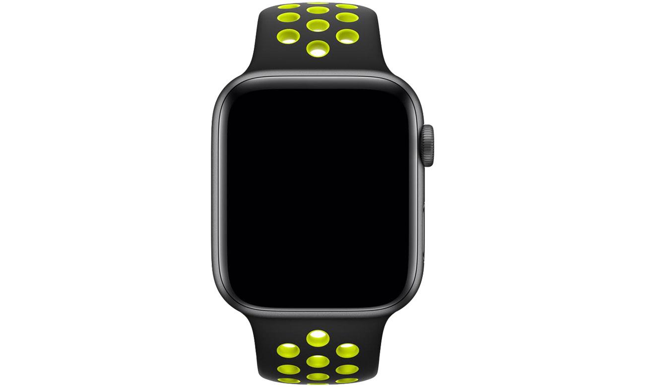 Apple Pasek sportowy Nike czarny/zielonożółty 44mm