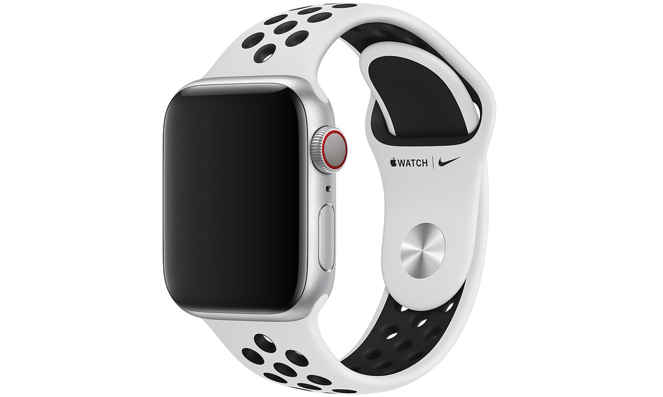 Pasek sportowy Nike w kolorze czystej platyny do Apple Watch 40 mm
