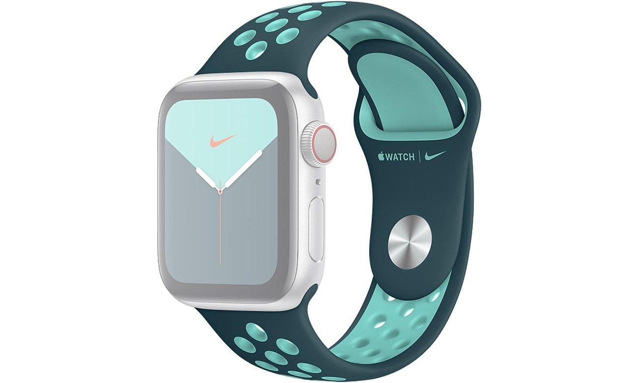 Pasek sportowy Nike w kolorze nocnego turkusu do Apple Watch 40 mm