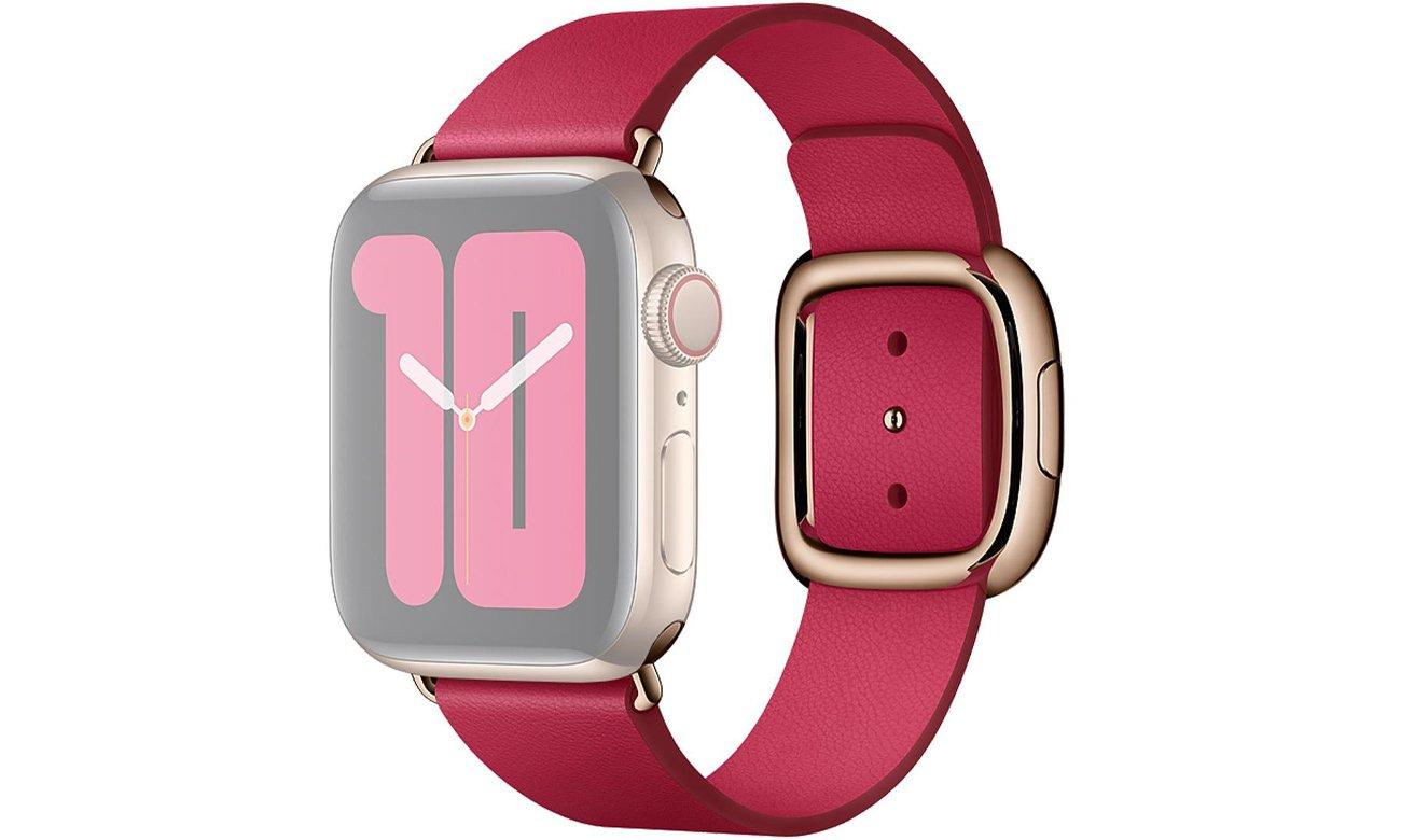 Pasek w kolorze malinowym z klamrą nowoczesną do Apple Watch 40 mm - S