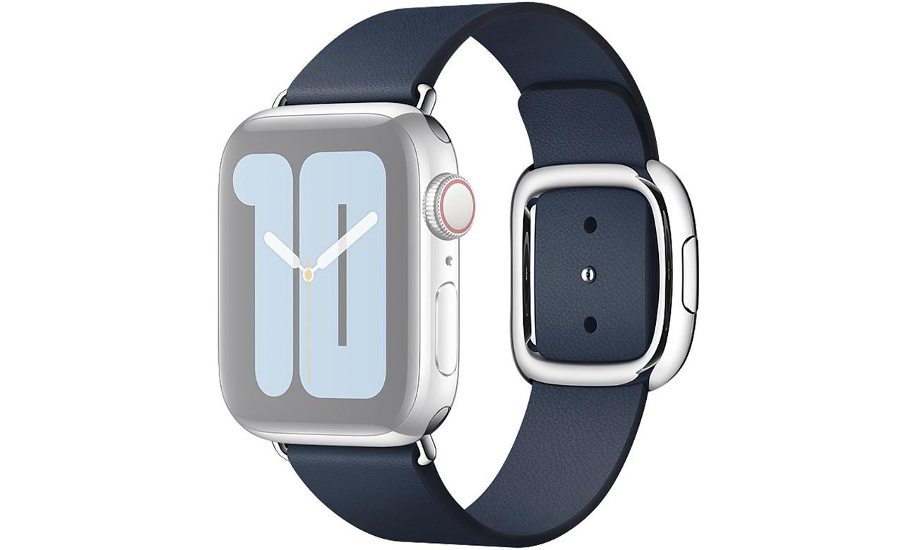 Pasek w kolorze otchłannego błękitu z klamrą nowoczesną do Apple Watch 40 mm - S