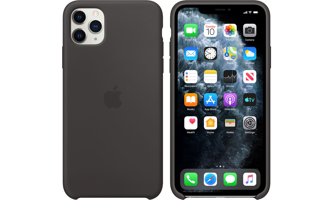 Apple Silicone Case do iPhone 11 Pro Max Black MX002ZM/A