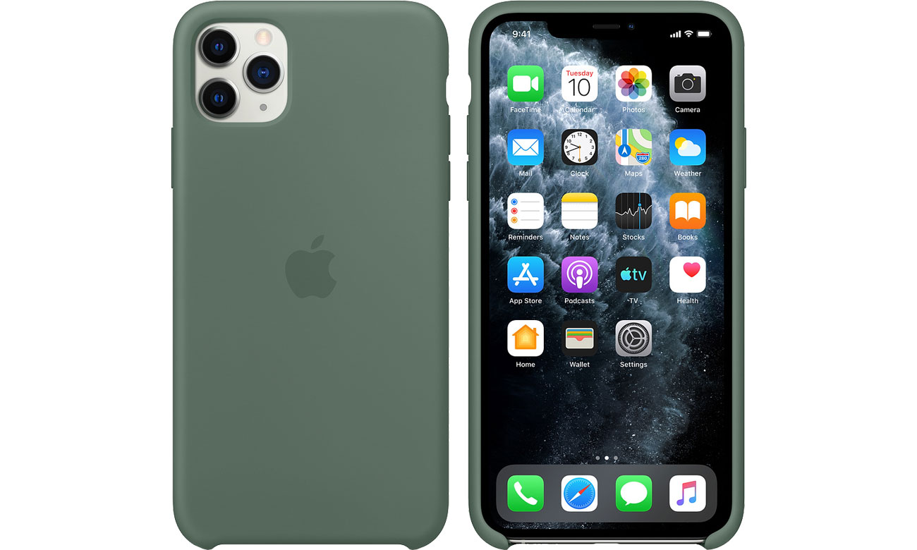 Apple Silicone Case do iPhone 11 Pro Max Pine Green MX012ZM/A