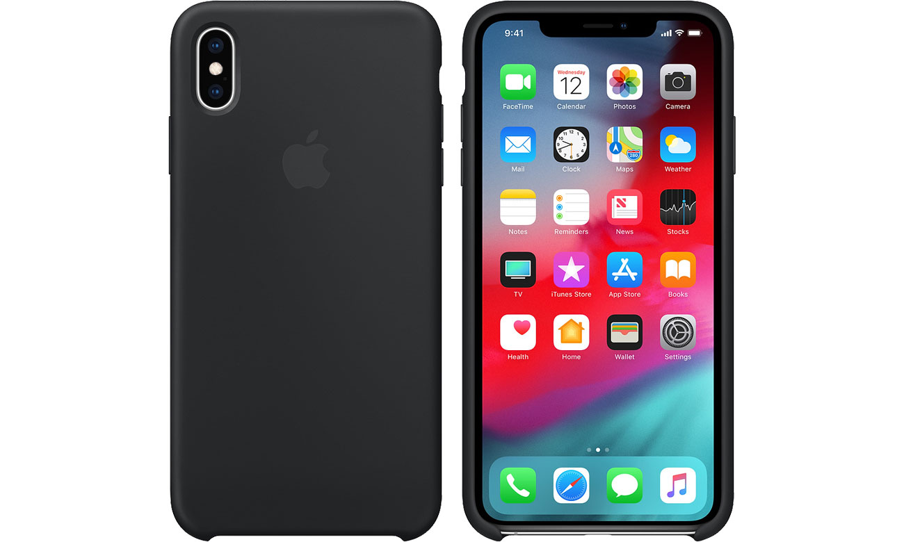 Etui Apple iPhone XS Max Silicone Case Black MRWE2ZM/A