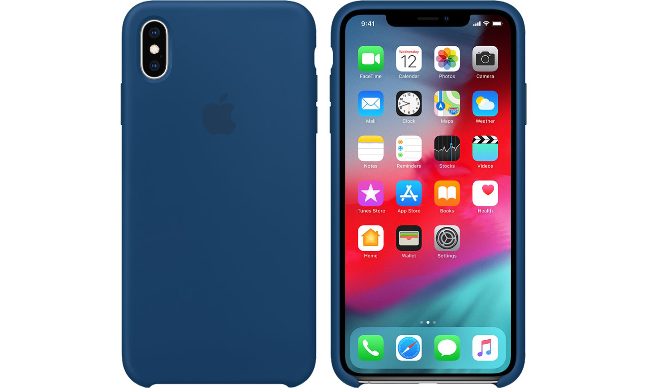 Etui Apple iPhone XS Max Silicone Case Blue Horizon MTFE2ZM/A