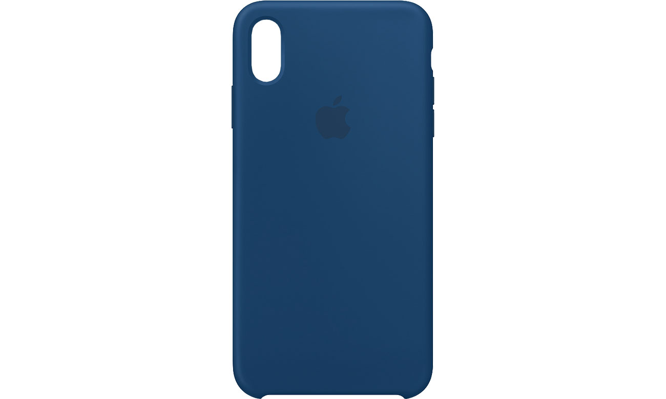 Apple iPhone XS Max Silicone Case Burzowy Błękit