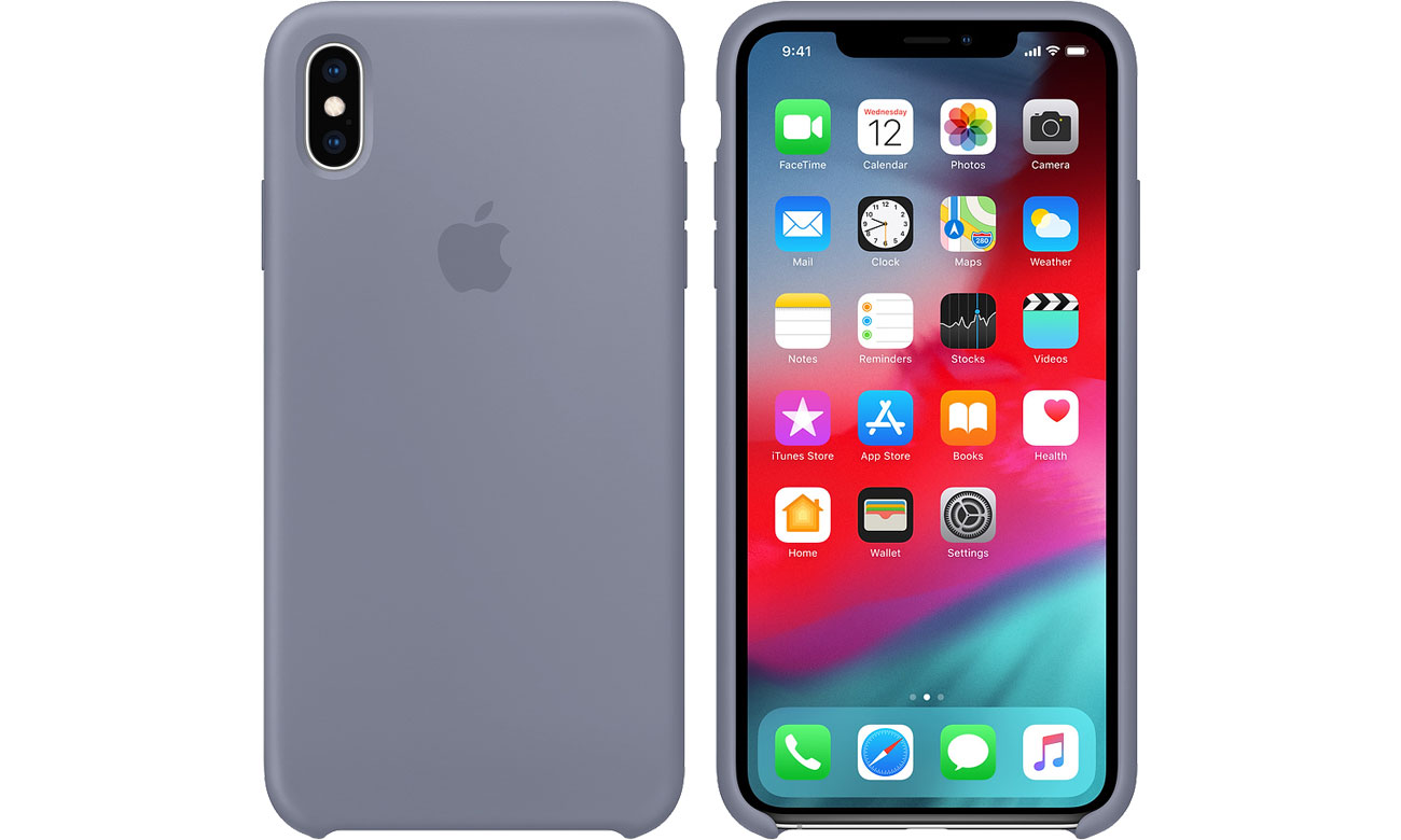 Etui Apple iPhone XS Max Silicone Case Lavender Gray MTFH2ZM/A