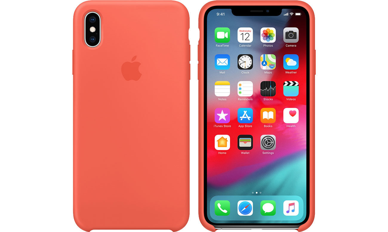 Etui Apple iPhone XS Max Silicone Case Nectarine MTFF2ZM/A