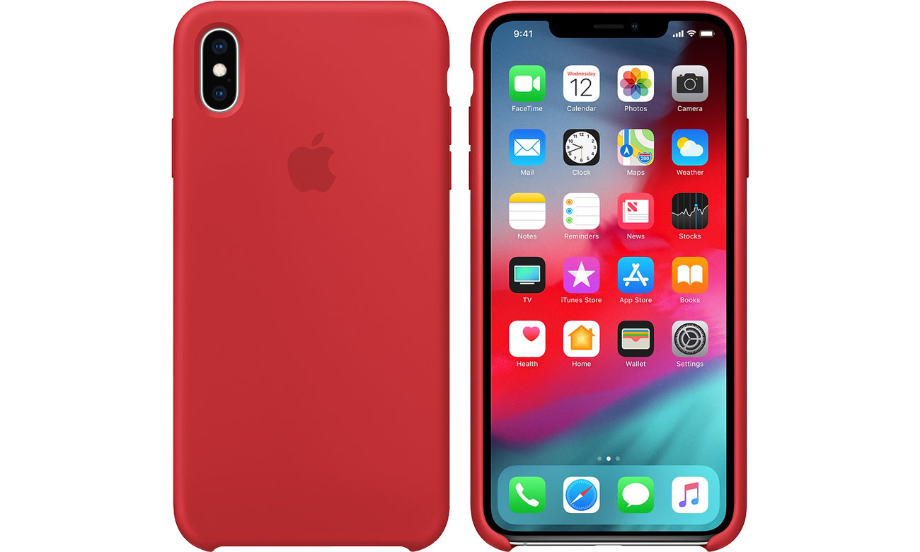 Etui Apple iPhone XS Max Silicone Case Product Red MRWH2ZM/A