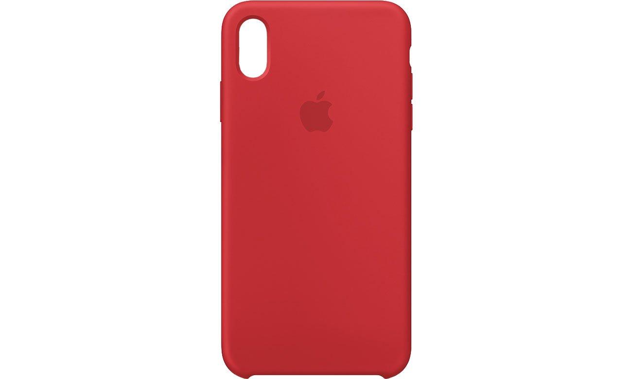 Apple iPhone XS Max Silicone Case Czerwone
