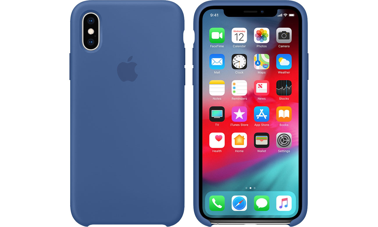 Etui Apple iPhone XS Silicone Case Delft Blue MVF12ZM/A
