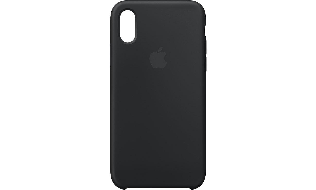 Apple iPhone XS Silicone Case Czarne