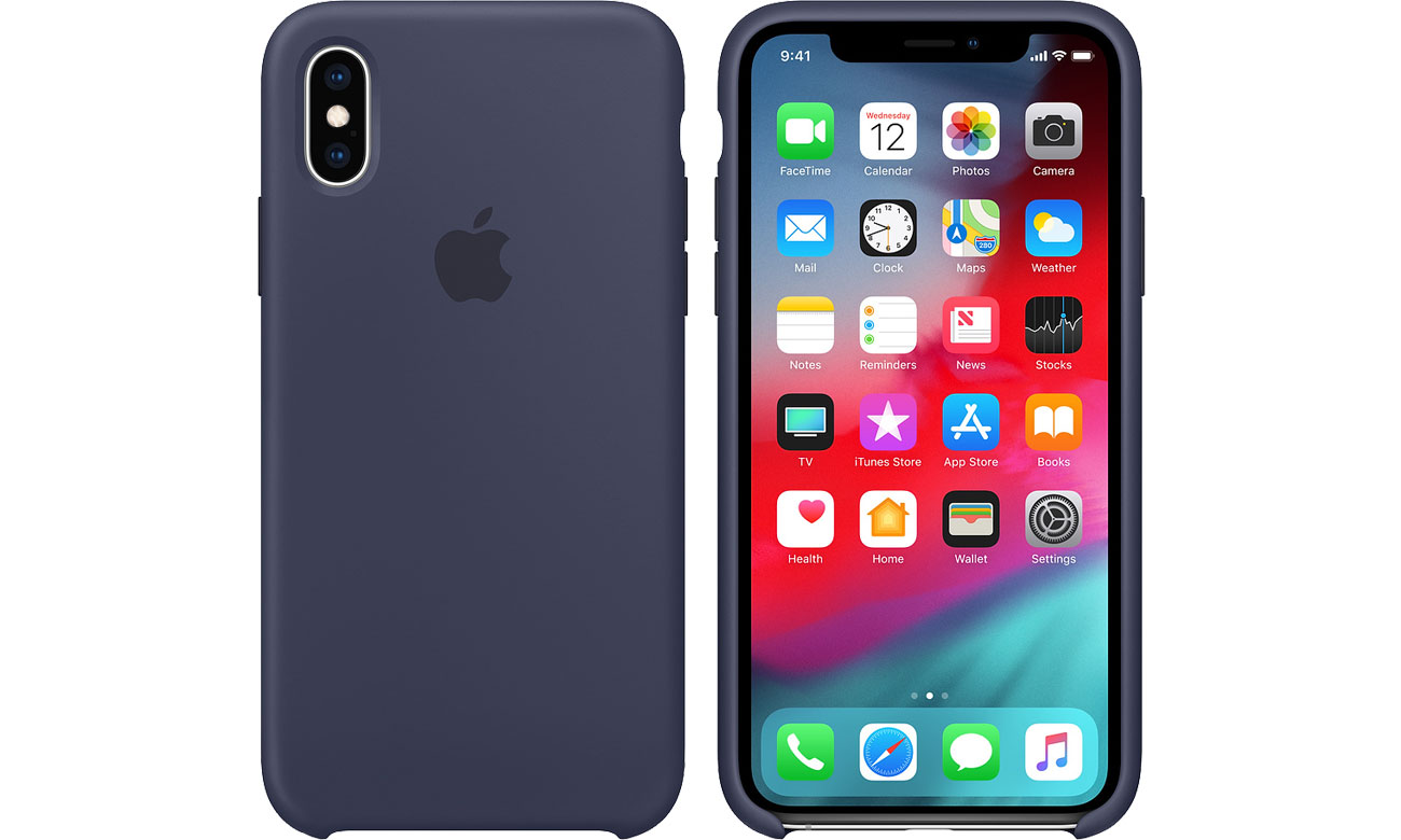 Etui Apple iPhone XS Silicone Case Midnight Blue MRW92ZM/A
